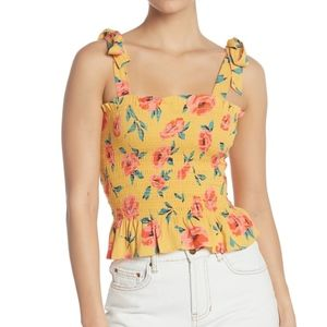 Billabong Floral To the Point Smocked Top